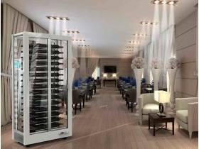 Серия белых винных шкафов