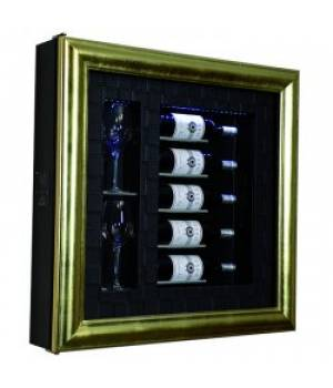 Настенный винный модуль-картина QV52-N3161U (Синий)